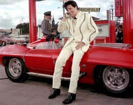 Elvis Presley Car TKK Vintage 16X20 Color Music Memorabilia Photo - $29.95