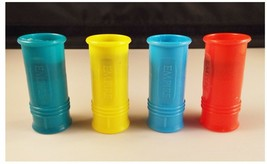 4 Count Siren Noise Maker Whistles Plastic Colorful - $5.73