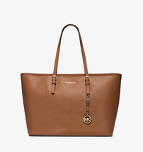 Michael Kors Jet Set Travel Tote SAffiano Leather MF Top Zip - Luggage NWT - $142.55
