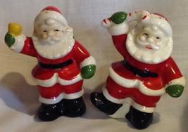SANTA CLAUS VINTAGE SALT & PEPPER SHAKERS CHRISTMAS DECORATION - $13.51