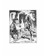 Alice In Wonderland Giclee Print From Sir John Tenniel- 'An invitation f... - $12.74