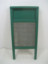Vintage National Washboard Co. Model #703 Wooden Washboard Green Made in... - $18.65