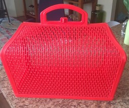 SNAPPY SATCHEL RED JELLY SHOPPING TOTE BEACH Dr PLASTIC BAG Basket Made ... - $36.14