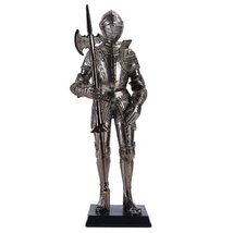 """13"""" Tall Medieval Knight Statue Figurine Suit of Armor with Stand - $43.31"""