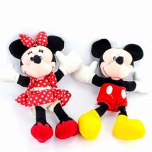 Disney Mickey Minnie Mouse Plush SET Stuffed Animal Bean Doll Toy Gift 9... - $18.61