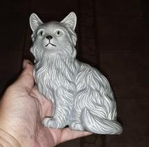 "Large Vintage Ceramic Cat Gray 5"" - £16.05 GBP"