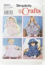 "Simplicity american made sewing pattern for 12-22"" girl doll clothes 8960 size A - $8.91"