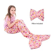 Catalonia Kids Mermaid Tail Blanket Pillow Cushion,Super Soft Coral Plu... - $44.99