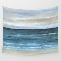 Wall Tapestry Wall Hanging Printed in USA Sea View 266 ocean blue beach ... - $944,33 MXN+