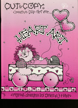 Cut & Copy Creative Clip Art  Scrapebook HEART ART  Dianne J Hook 1995 - $3.22