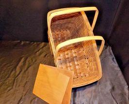Double Handled Swing Basket Handmade AA18-1294 Vintage image 6