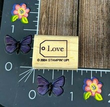 Stampin Up! Love Tag Rubber Stamp 2004 Wood Mount #K54 - $2.48