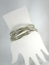 Vintage Silvertone Bangle Bracelet Silver Tone 51391 Bangles Bracelets - $12.86