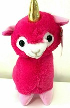 New Llama Corn Plush 9.5 inch. Pink Soft Toy. Llamas Unicorns Doll. NWT - $10.57