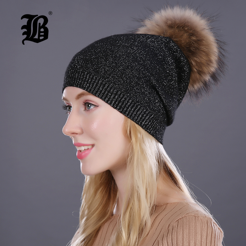 67d75416cf3 Flb women s beanies winter hat hats for women knitted with wool russia and  america 139