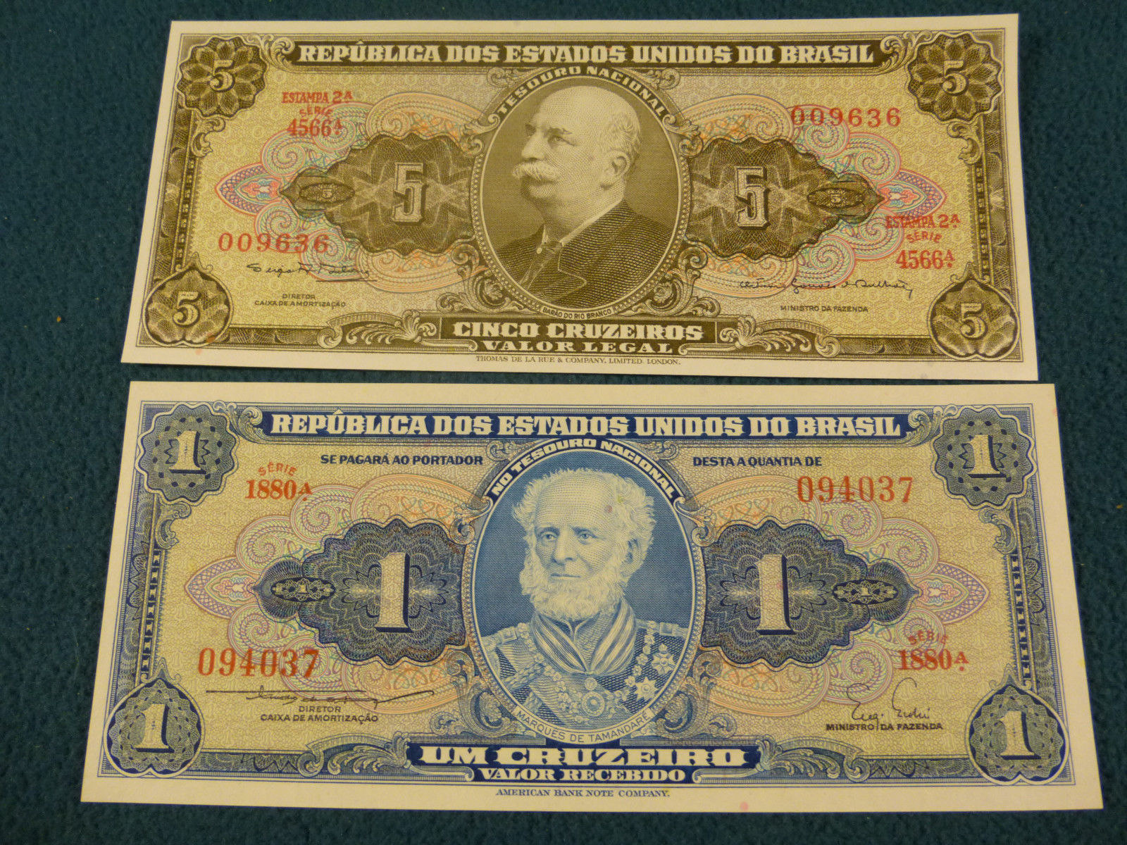 (9) OLD MINT UNCIRCULATED SOUTH AMERICAN NOTES EXTREMELY ATTRACTIVE