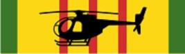 "Vietnam – OH-6 Decal 6"" Wide x 1.77"" High - $11.87"