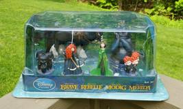 Disney Store Brave Toy Figures Merida Rebelle Modig 6 piece Sealed New Pixar - $49.45