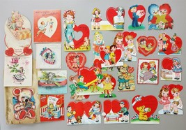 LOT 1945-46 USED 25pc VALENTINE CARD honeycomb a-meri-card norcross hall... - $42.50