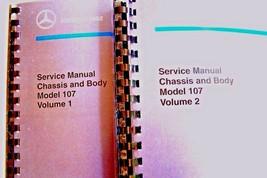 mercedes 450sl 560sl shop manual service manual chassis body w107 workshop book - $148.49