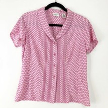 Covington Pleated Floral Shirt - Size S - $12.60