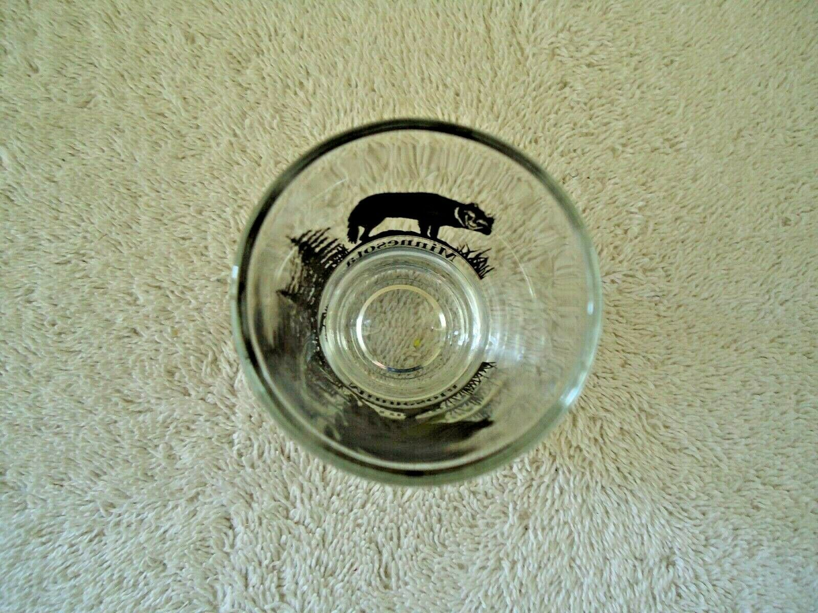 "Vintage Minnesota "" Timber Wolf "" Themed Shot Glass "" BEAUTIFUL COLLECTIBLE ITEM image 5"