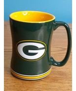 Green Bay Packers 14 oz Team Color Sculpted Logo Relief Coffee Mug  - $8.86