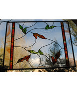 Stained Glass Window Panel  - Falling Leaves  Nature Series - $179.00