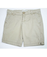 AEROPOSTALE WOMENS JUNIORS 5 6 STRETCH KHAKI SHORTS SPRING SUMMER COTTON... - $9.89