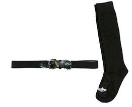 Rawlings BLTSOCKS-BLK Baseball Belt & Sock Combo (Youth Small/Black) - $11.64