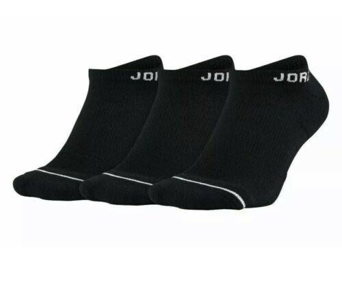 NIKE AIR JORDAN Last Dance SOCKS 3 PAIR PACK M 6-8 BLACK WHITE SX5546 010 - $19.11