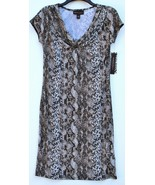 Dana Buchman Snakeskin Print Tribal Fusion Vanilla Ice Shift Dress S Small - $39.99