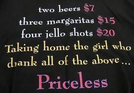 Daytona Bike Week 2002 Black T-Shirt Large TAKING HOME THE GIRL...PRICELESS - $12.86