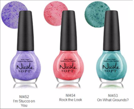 3 Nicole OPI Roughles Collection Textured Nail Polish Color Pastels Pink... - $14.99