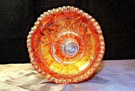 Heavy Etched HobstarMarigold Carnival Glass Base AA20-CD0064b Vintage image 2