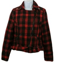 Therapy Lane Crawford Jacket Red Plaid Buffalo Print Style Size M Womens - $27.71