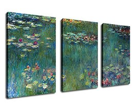 "Canvas Wall Art Water Lilies by Claude Monet Painting Prints - 20"" x 30""... - $77.44"