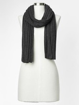 GAP Cashmere Scarf, 100% Cashmere, Charcoal Heather, One Size, NWT - $80.99