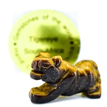 Tiger's Eye Gemstone Tiny Miniature Lion Figurine Hand Carved in China image 1