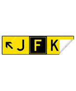 JFK NEW YORK AIRPORT TAXIWAY SIGN DECAL STICKER 8x2in/20x5cm DIECUT  - $8.42