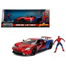 2017 Ford GT with Spider Man Diecast Figure Marvel Series 1/24 Diecast M... - $49.84