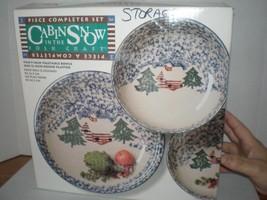 Tienshan Cabin in the Snow 3pc Completer set, 2 vegetable bowls, 1 platt... - $59.00