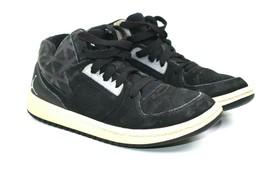 Nike Air Jordans Black Gray Suede High Tops Kids Retro Size 1y 707321-004 - $11.23