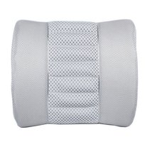 PANDA SUPERSTORE Simple Design Bamboo Charcoal Lumbar Support/Back Cushion, Gray