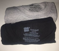 2 New Hanes Mens Size Small T Shirt Tagless ComfortSoft Black & Gray - $9.85