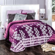 Isadora Flowers Flannel Extra Soft Blanket Very Thick And Warm Full Size - $69.30