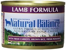 Natural Balance Ultra Premium Lamb Canned Dog Formula, Case Of 12 Cans/6 Oz - $24.93
