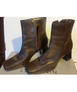 NINE WEST Women's Platform Ankle Boot Leather Brown  Size 8M - $75.99