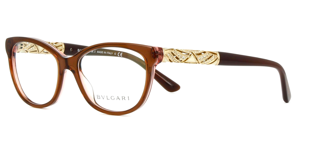 a9b55bef2d3 Bvlgari Eyeglasses BV4126B 5401 55MM Brown Frames 55mm Rx-ABLE -  445.50