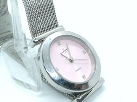 Skagen womens watch Dimond Pink Dial 25mm With New Battery - $30.00